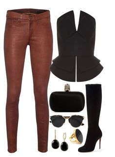 Rusty, Black & Gold by carolineas on Polyvore featuring polyvore, fashion, style, Martin Grant, rag & bone, Christian Louboutin, Alexander McQueen, Yossi Harari, Effy Jewelry, Christian Dior, women's clothing, women's fashion, women, female, woman, misses and juniors