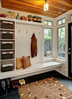 Mud Room - Building Storage with Existing Windows