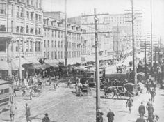 Main Street, looking east from four corners.  1892, Rochester, NY