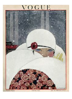 Vogue Cover - January 1919  Georges Lepape