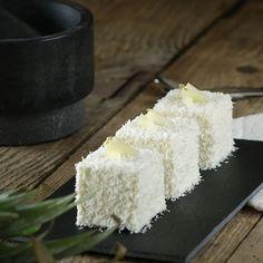 Recette du cube coco, vanille et fruits exotiques