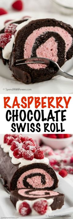 Show your loved ones how much you care about them this Valentine's Day with this decadent yet simple to make Raspberry Chocolate Swiss Roll.