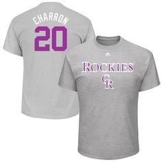 "Ian Desmond ""Charron"" Colorado Rockies Majestic 2017 Players Weekend Name & Number T-Shirt - Gray"