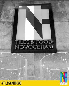 """Notre logo coloré brille et domine notre stand """"Tiles & Food Novoceram"""". Que réserve-t-il aux visiteurs ?  http://www.novoceram.fr/blog/evenements-novoceram/novoceram-stand-cersaie-2014  #TILESANDFOOD #CERSAIE #CERSAIE2014"""