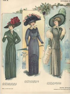 Catalog Descriptions of Hats for Sale: September p. French Fashion, Retro Fashion, Vintage Fashion, American Fashion, Women's Fashion, Edwardian Era, Edwardian Fashion, Edwardian Clothing, Medieval Fashion