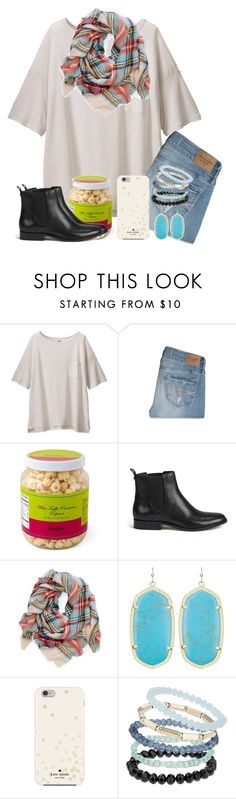 """♦️little texas tornado♦️"" by xofashionbabe ❤ liked on Polyvore featuring Uniqlo, Abercrombie & Fitch, MICHAEL Michael Kors, Kendra Scott, Kate Spade, Topshop, women's clothing, women, female and woman"
