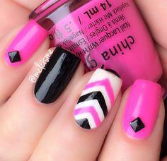 Hot pink Chevron design