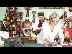 Guardanapo Porta talheres Árvore de Natal em 10 minutos! +molde - YouTube
