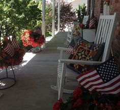 Kim's Fourth of July Porch