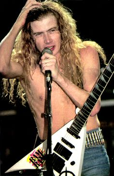 Dave Mustaine Megadeth -m/ … Dave Mustane, James Hetfield, Heavy Metal Bands, Band Photos, Music People, Thrash Metal, Thrasher, Great Bands, Playing Guitar