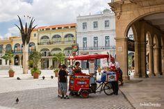 An ice-cream vendor in Cuba