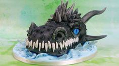 Dragon Birthday Cakes, Dragon Cakes, Dragon Skin, Dragon Head, Realistic Dragon, Make A Dragon, Cake Decorating Courses, Boy Birthday, Birthday Ideas