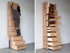 Mmhmm. Staircase Storage Solution