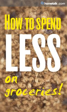 The secret to spending less on groceries!