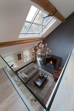 Living Room Designs, Living Spaces, Interior And Exterior, Interior Design, Home Design Plans, Art Of Living, Skylight, Bed And Breakfast, Future House