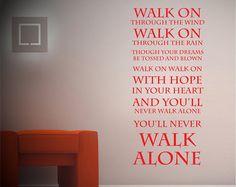 You'll never walk alone - Liverpool FC - Wall sticker - Lyrics - Vinyl Decal