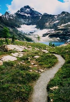 Mountain Path, Lake McArthur hike in Yoho National Park. Gorgeous!! Haven't heard of this one; it's close to Banff! Pinned By Wondrous http://www.wondrous.com.au