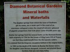 Diamond Botanical Garden in St.Lucia