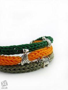 """""""I"""" cord bracelet and a cute charm."""