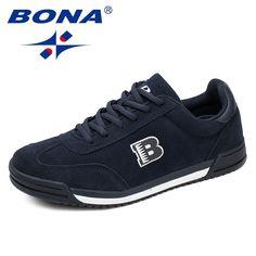 check out 83c9a e9041 BONA New Classics Style Men Casual Shoes Lace Up Suede Leather Men Shoes  Comfortable Men flats