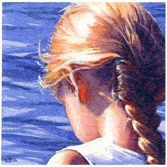 Pamela Jo Ellis, artist painting watercolors