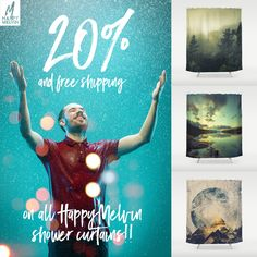 Let it rain but keep it in the #shower #sweet #deal on #showercurtains at Society6 today!