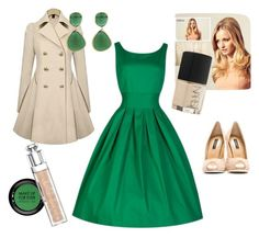 Beige and green outfit by kamila-busygina on Polyvore featuring polyvore, fashion, style, Dolce&Gabbana, Monica Vinader, MAKE UP FOR EVER, Hershesons, NARS Cosmetics and Christian Dior