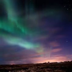 ... Lights Over Southern Iceland - Bright Aurora Borealis Northern Lights