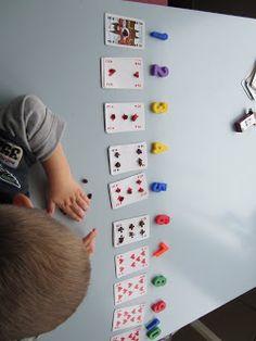mizflurry: Cijfers leren met kaarten, rozijntjes en magneet-cijfers