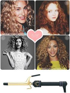 Breakdown of what each size curling iron can do... Love this!