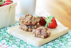 Healthy Morning Coffee Cup Of Tea Time Strawberry Biscuits