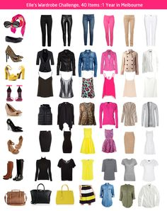 My clothes are taking over my house.  In a city where you can have 4 seasons in 1 day - can I survive on a wardrobe of 40 pieces (not counting my shoes or bags - seriously, that's taking things too far!!)