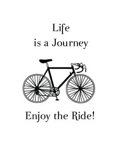 Inspirational Quote Bicycle Art Print by ByGraceDesignsStudio