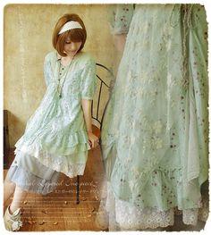 Платье кружево, лес мори девочка сладкий из искусственного двухкомпонентный цветочный лето Desigual женщины новинка Cawaii мори лолита Faldas купить на AliExpress