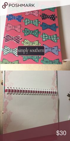 LARGE BOW SIMPLY SOUTHERN NOTEBOOK BRAND NEW!!!! Brand new!!! Other