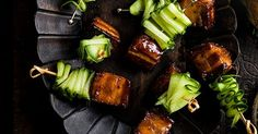 Try our pork belly skewers with Vietnamese caramel sauce recipes. This pork belly is an easy canapé recipe for Christmas. Make our easy pork belly recipe