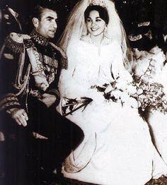 Empress Farah's Gown HIM The Shah of Iran and Farah Diba December 21, 1959 Tehran, Iran