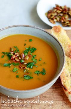 Creamy squash soup is the perfect mood-boosting, soul-warming meal for a chilly, cloudy day.