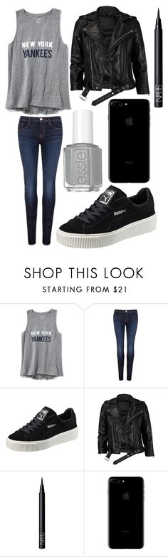 """""""Monday"""" by qasde on Polyvore featuring Old Navy, J Brand, Puma, VIPARO and NARS Cosmetics"""