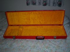 Cigar box guitar case.