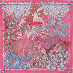 """Mythes et Metamorphoses   Hermes silk twill scarf, hand rolled, 36"""" x 36""""   Ref. : H002814S 18"""