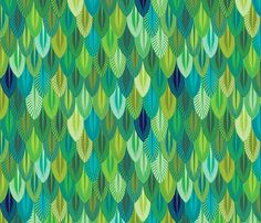 Aztec Armor quetzal feathers fabric by spellstone on #Spoonflower - custom fabric. this is really lovely.