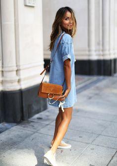 denim dress | sincerely jules