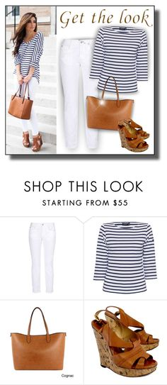 """Get the Look - Navy & White Stripes"" by helenehrenhofer ❤ liked on Polyvore featuring STELLA McCARTNEY, Saint James, Emilie M and Chloé"