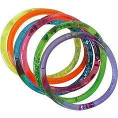 Fave Kid Stuff.  Liquid-filled, glitter jelly bracelets.