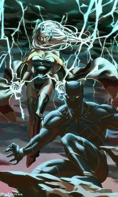 True African Goddess: Storm by on DeviantArt Avengers, Hulk Marvel, Marvel Art, Marvel Heroes, Black Panther Storm, Black Panther Art, Black Panther Marvel, Storm Comic, Storm Marvel