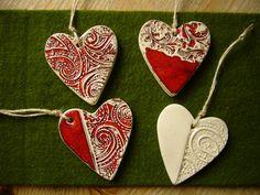 Keramikherzen Set von Atelier32  auf DaWanda.com