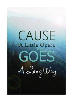 A Little Opera Goes a Long Way by Sky Sailing, AKA Adam Young. ♥
