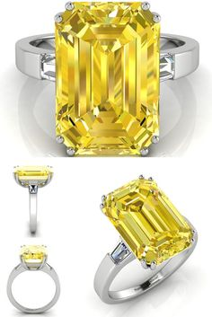 George Clooney 7 carat Yellow Diamond Engagement Ring - Did he overpay? An in depth analysis (Illustrations inside)