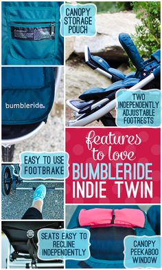 looking for a pram for twins or close siblings? then this might be your perfect choice! Stroller Guide: Bumbleride Indie Twin » Daily Mom